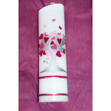 103 Kerze Baum rosa